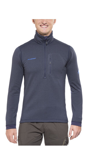 Mammut Runbold ML sweater Heren Half Zip Pull blauw